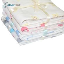 Toalla de saliva de algodón con diseño de champiñones para bebés 0-4
