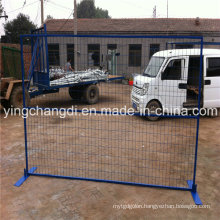 Powder Coated 6ftx10ft Canada Style Electric Galvanized Temporary Fencing