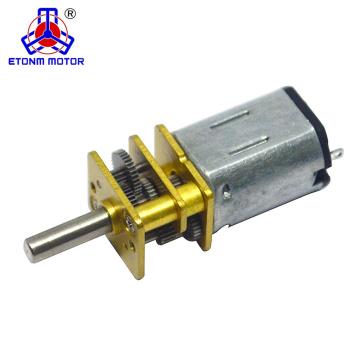 ETONM 12 mm 6 v mini motor del engranaje de dc con tornillo m3 m4