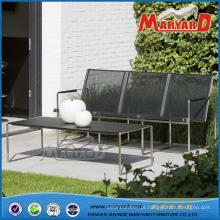 Cadeira de aço inoxidável cadeira de tecido sling cadeira textilene