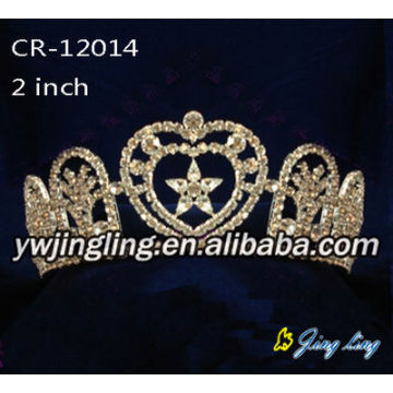 Gold Plated Rhinestone Star Patriotic Crown Pageant Tiaras