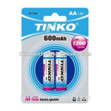 CE/SGS c 1.2 v 200-1000 tamanho AA ni-cd baterias recarregáveis