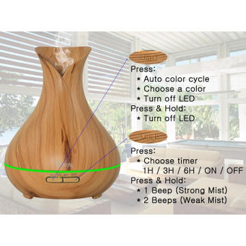 400ml Ultrasonic Whisper Quiet Personal Tabletop Humidifier