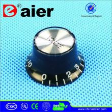 Tête en acier inoxydable C-2009V 18 dents / 6.0mm bouton de volume Boutons de commutateur en plastique