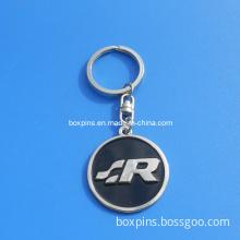 New Brief Round Metal Soft Enamel Customized Logo Keychain