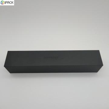 Kundenspezifische schwarz bedruckte Deckel-off Regenschirm Geschenkverpackung