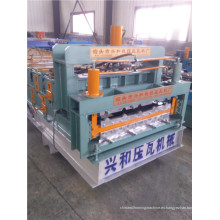 Máquina formadora de rollos de doble capa de panel de techo corrugado
