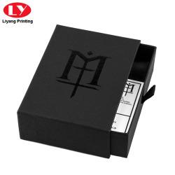Luxury Drawer Matte Black Wallet Box Packaging