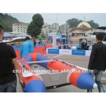 Barco de balsa inflable de piso aluminio H-SM300 con CE