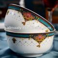 conjunto de cuenco de sopa de porcelana, cuenco Fábrica de China, cuenco de cerámica turco