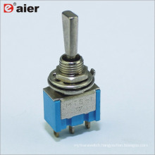 6.4MM Single Pole 3Pin 3-Way Toggle Switch ON OFF ON Momentary