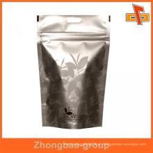 Livre prova de umidade prova alimentares por atacado grau personalizado ziplock saco de alumínio