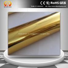 Película de Mylar dorada metalizada para laminación de papel