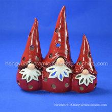Cerâmica Candle Holder Natal, Papai Noel (Decoração Interior)