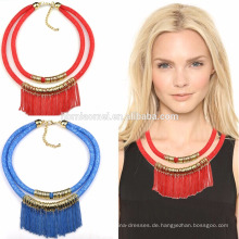 2017 Harz Aussage Halskette, amerikanische Diamant Halskette Sets, große Mode Halskette Zubehör
