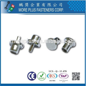 Taiwan Stainless steel 18-8 Chrome plated steel Nickel plated steel Copper Brass for Tea Canister Special Rivets