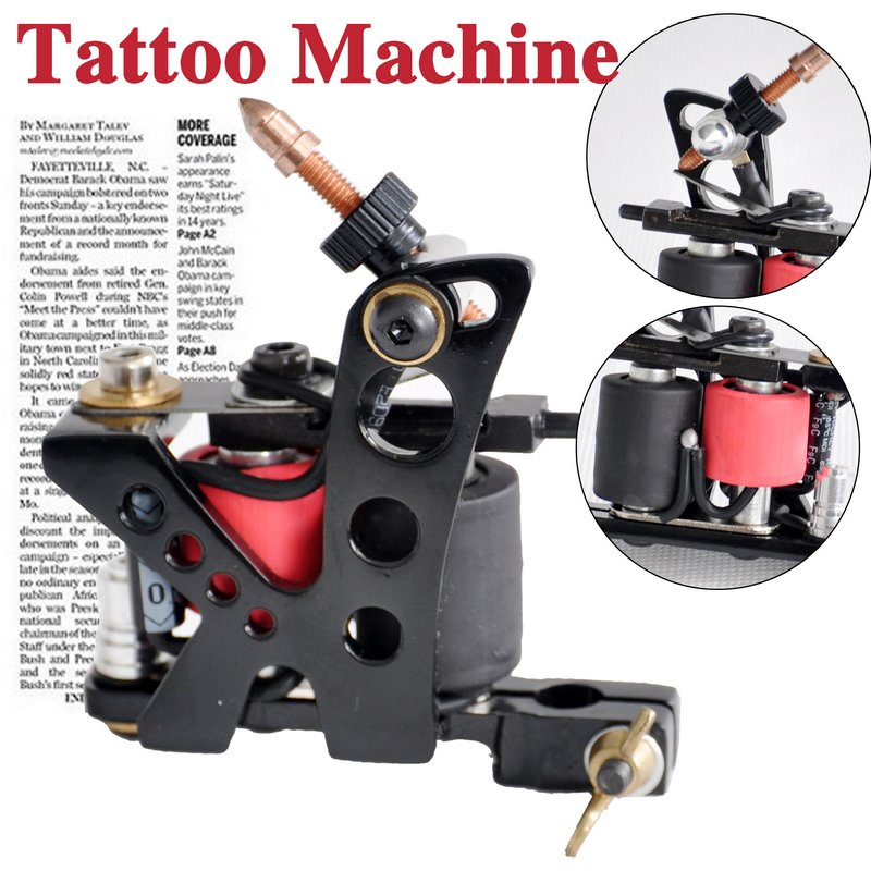black tattoo machine