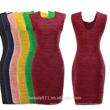 Модные профнастил сексуальное платье без рукава и обрезать юбку PS05
