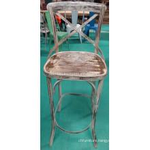 Vintage Bar Chair. Antique Paint