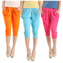 Moda feminina, cores doces, colhidas harem pants (SR8206)