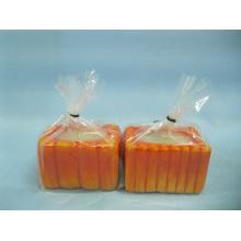 Artesanía de cerámica de forma de candelero calabaza (LOE2360-6.5z)