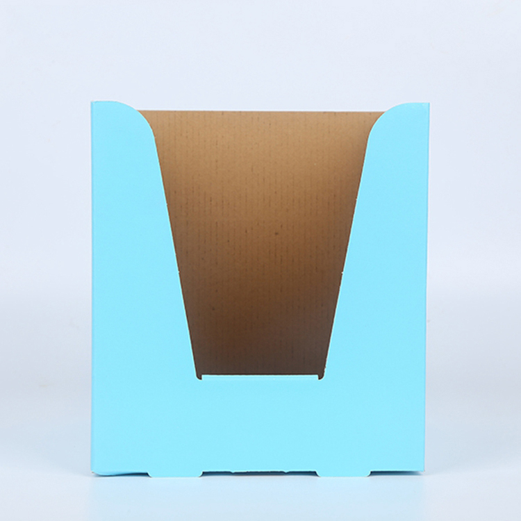 Blue Corrugated Display Packaging Paper Box