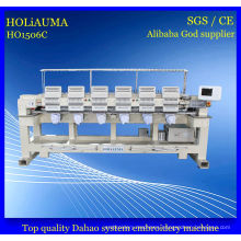 Sixe Head High Speed Dahao System Computer Embroidery Machine with Multi Function Embroidery
