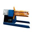 Manufacture deck flooring decoiler metal sheet steel coil decoiling automatic sheet decoiler machine
