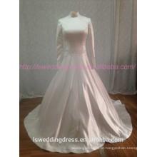 WD6015 Qualidade tecido pesado artesanato qualidade de exportação buraco de fechadura do vintage volta design novo vestido de casamento muçulmano