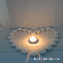 Candela color Tealight per matrimonio