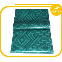 Couleur verte 5 Mètres / sac Jacquard Bonne Qualité Tissu de Rideau Tricoté 100% Coton Fait à la Main Tissu Africain Brocade de Guinée