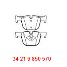 Послепродажное автозапчасти Керамическая дисковая тормозная колодка D1610 34216850570 для BMW F30