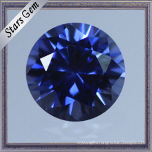 Classical Round Brilliant Cut Lab Corundum Sapphire Gemstone