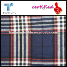 2016 new season 100 cotton yarn dyed twill weave plaid check stripe pattern flennel fleece fabric for shirt