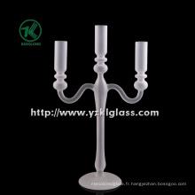 Bougeoir en verre blanc pour décoration intérieure par BV