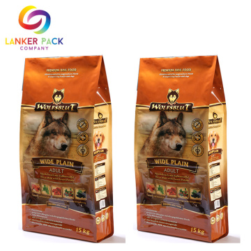 BRC Standard Custom Quad Seal Pet Packaging Food