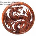 parede artesanal de madeira esculpida painéis de parede painel de madeira sólida imagem dragão esculpida artesanato em madeira