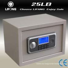 Pequeño acero LCD depósito segura caja de seguridad
