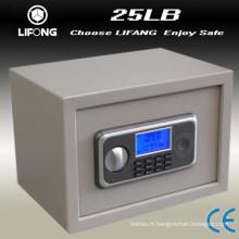 Petite boîte en acier LCD dépôt sécurité sûre sûre