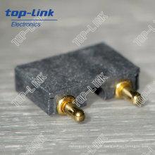 Primavera Carregado Pogo Pin conector com ângulo reto, 2 Pin