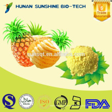 Polvo de piña 100% natural de alimentos saludables como materia prima para el ingrediente de alimentos y bebidas
