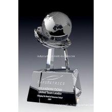 Глобус награда Кристалл на руке (ну-CW817)
