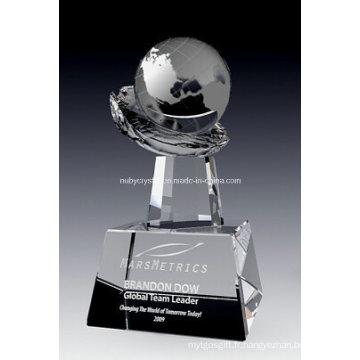 Prix Globe on Crystal Hand (NU-CW817)