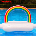 PVC Pool Floats Inflatable Rafts Rainbow Pool Toys Floatie Lounge Outdoor Swimming Pool Floats for Adults Kids