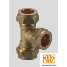 Brass Compression Fitting Reducing Tee 5130r