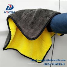 Chine fournisseur microfibre corail polaire serviette de nettoyage en peluche microfibre serviette