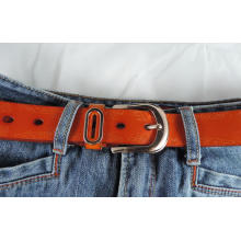 New design 3.3cm width Lady high quality genuine leather belt