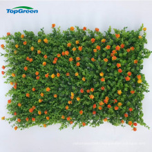 Plastic green artificial indoor decorative live fence panel for sale