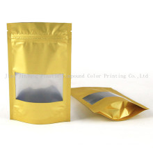 Stand up Coffee Plastic Packaging Bag with Zipper and Clear Window