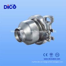 Válvula de retenção de solda de topo de aço inox